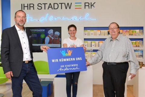 WaterLove Spende Stadtwerke Andernach